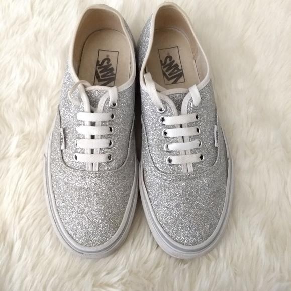 275001a7af03 Vans Shoes | Silver Glitter Shimmer Women Size 8 Men 65 | Poshmark